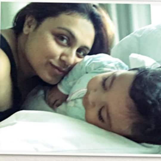 Rani Mukerji with her daughter.