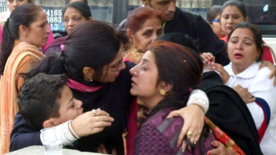 13 persons,12 govt teachers,including four women