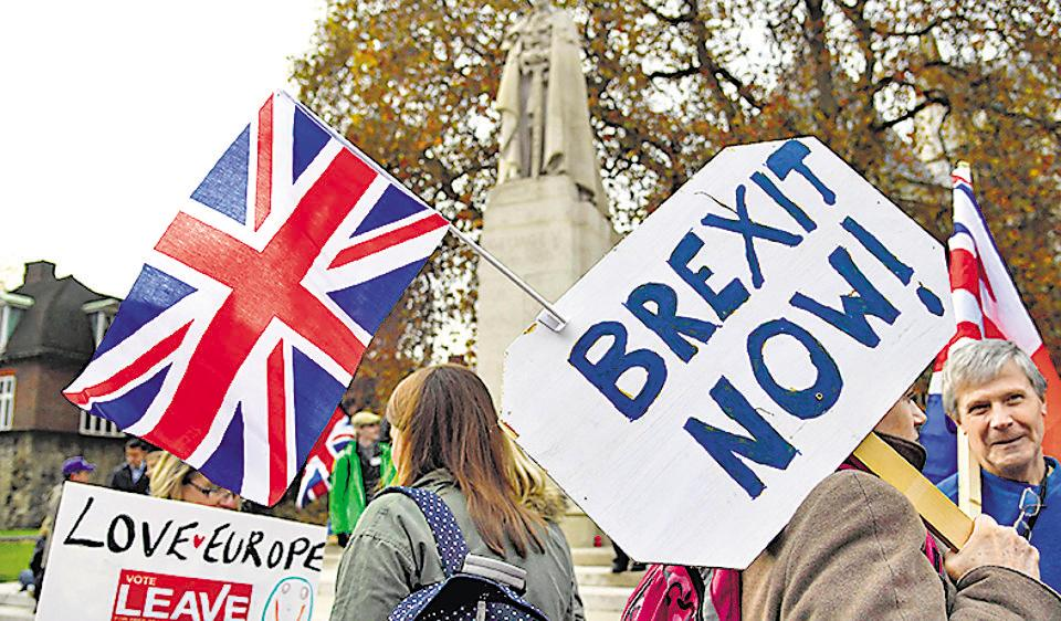 Demonstrators supporting Brexit protest outside of the Houses of Parliament in London .  At first glance, the election of Trump, Europe's problems and UK's vote for Brexit represent a shift against immigration, globalisation and liberal ideals. The wider picture, however, looks a bit different.