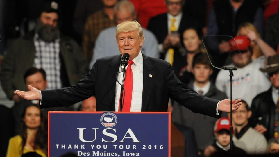 US President-elect Donald Trump is addressing people in the states that helped him win the election.
