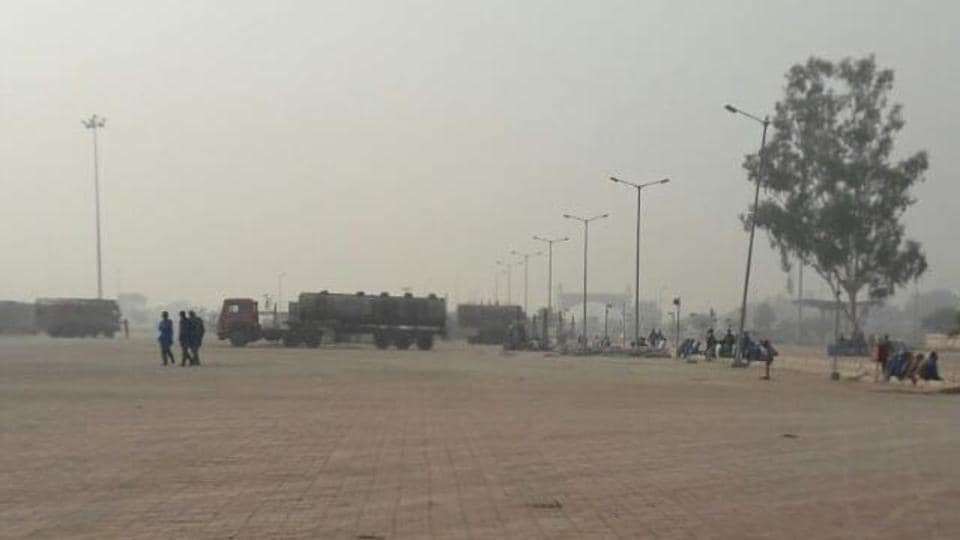 The integrated check-post (ICP) at Attari wore a deserted look on Thursday, December 8.