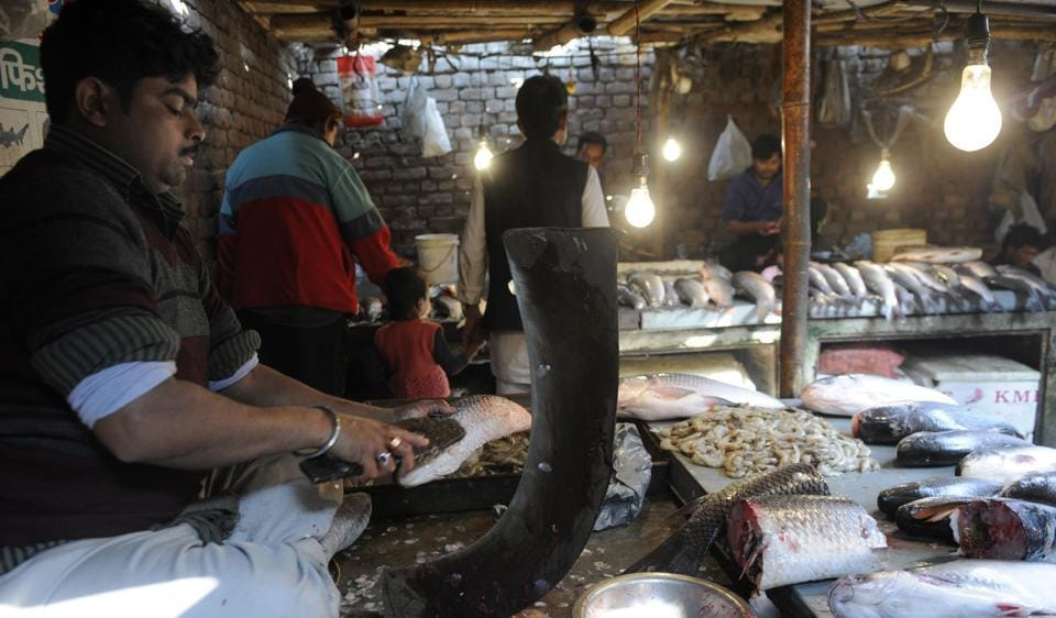 Vendors at the Nithari fish market said the prices of their products have fallen by Rs30-Rs40 a kilo since  demonetisation was announced.