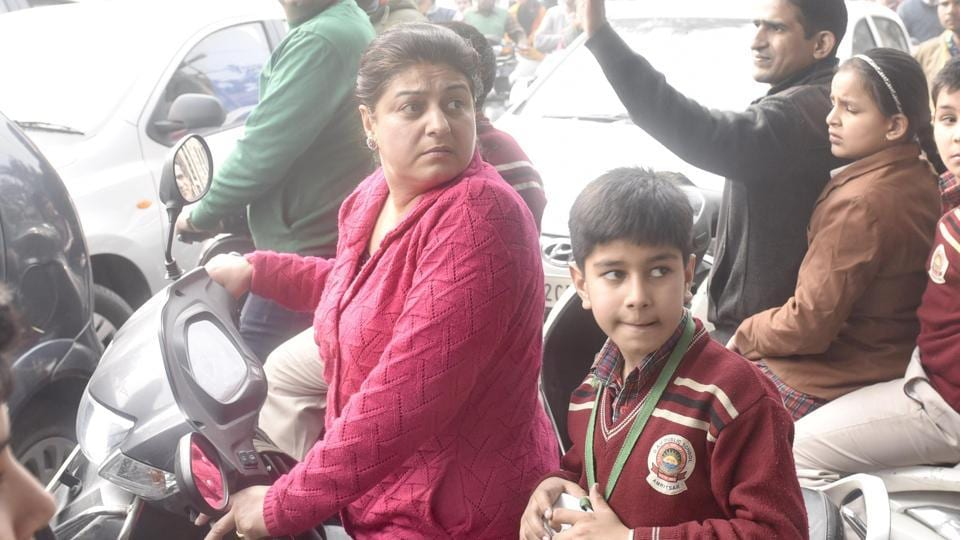 SAD Moga rally,school buses,parents