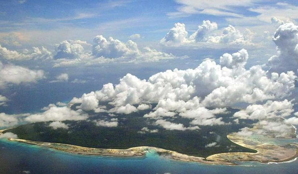 An aerial view of the Andaman islands.