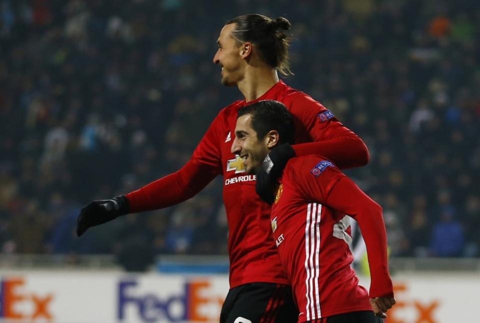 Henrikh Mkhitaryan, Zlatan Ibrahimovic were on the scoresheet as Manchester United cruised to a 2-0 win against Zorya Luhansk .