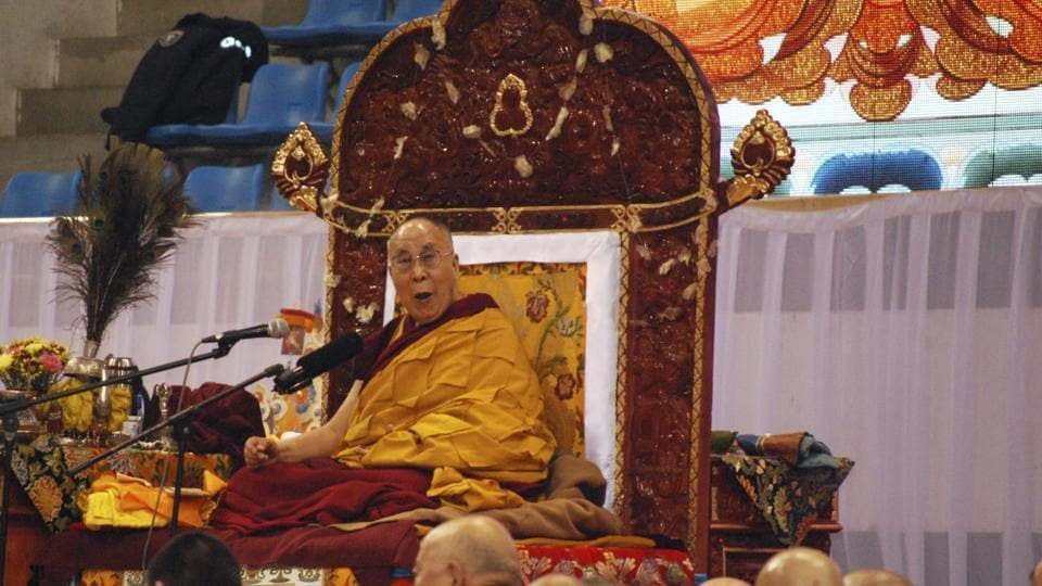 The Dalai Lama preaches to Mongolians at Ulaanbaatar in Mongolia on November 20, 2016. He visited Mongolia despite demands from China that the trip by the exiled Tibetan spiritual leader be scrapped, at a time Mongolia is seeking a critical aid package from its powerful neighbour.