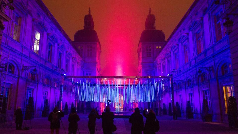 Seen here, the View of Platonium installation by artist Eric Michel et Akari-Lisa Ishii in Lyon. (REUTERS)