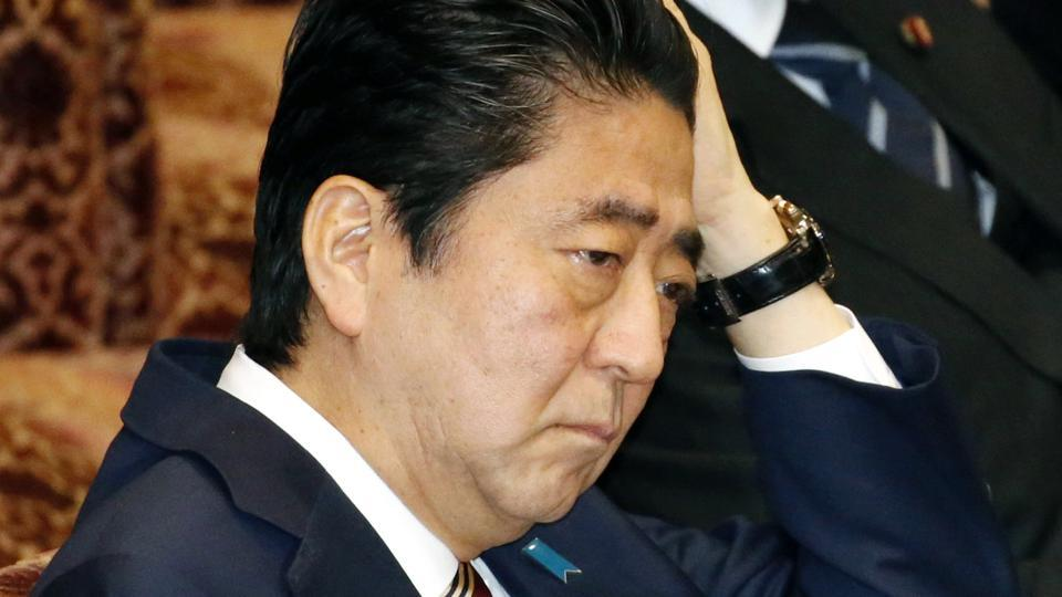 Japanese Prime Minister Shinzo Abe during a special committee on the Trans-Pacific Partnership (TPP) at the parliament's upper house in Tokyo on Friday.