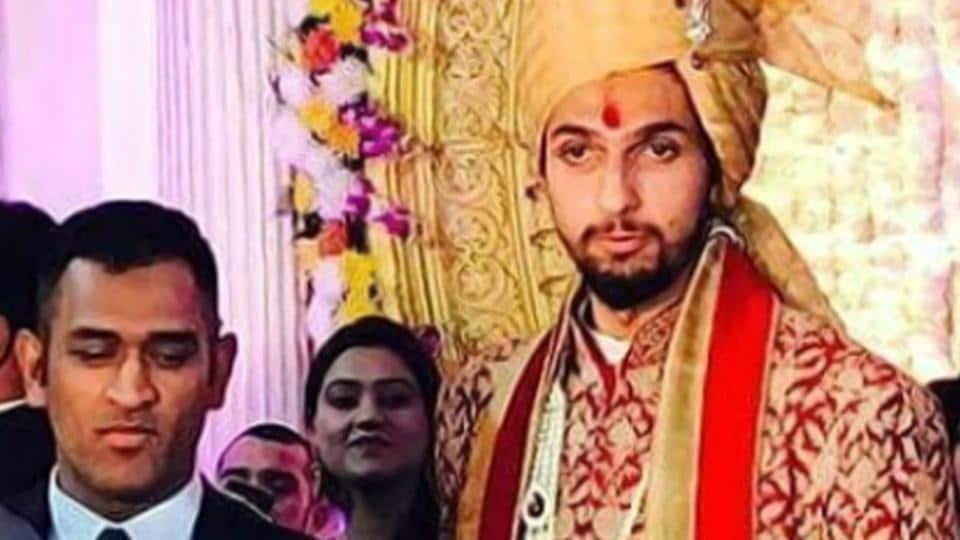 India's limited overs skipper Mahendra Singh Dhoni at Ishant Sharma and Pratima Singh's wedding on Friday.