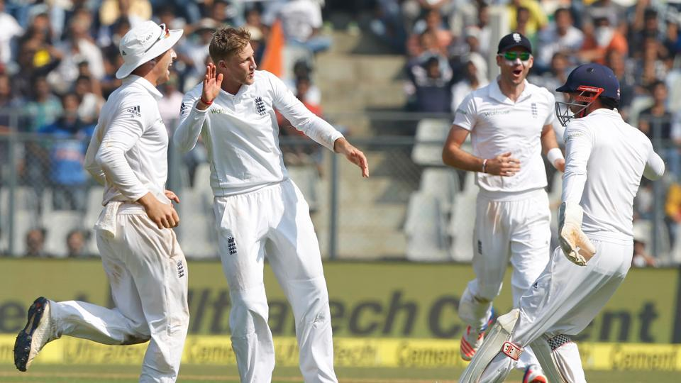 Joe Root got England back in the game with the wickets of Karun Nair (13) and Ravichandran Ashwin (0) (Photo by: BCCI)