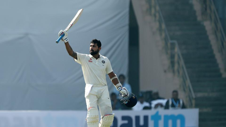 Murali Vijay notched up his eighth Test century and third against England as he roared back to form. (BCCI)