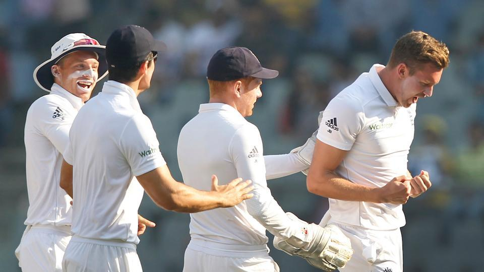 Jake Ball struck early on the third day as he removed Cheteshwar Pujara for 47. (Photo by: BCCI)