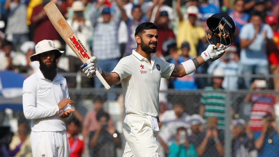 Virat Kohli notched up his 15th Test century and went past 2000 runs as skipper.