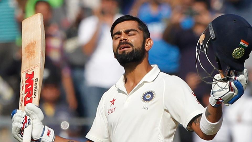 Virat Kohli notched up his third century against England as India took the lead in the Mumbai Test.