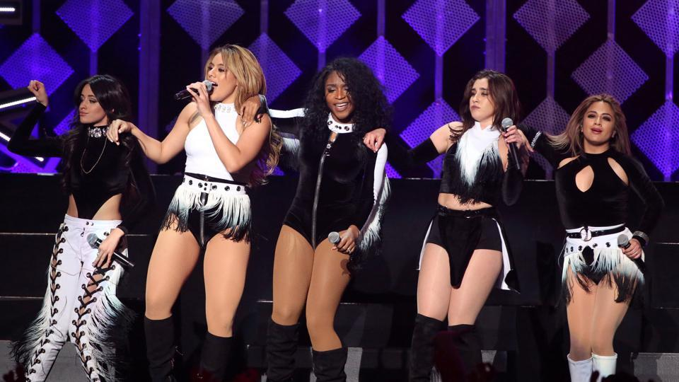 Fifth Harmony perform during the concert.  (REUTERS)