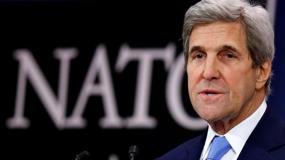 """At a meeting of Western powers and Syrian opposition representatives in Paris, US secretary of state John Kerry called for Russia to """"do their utmost to bring it to a close""""."""