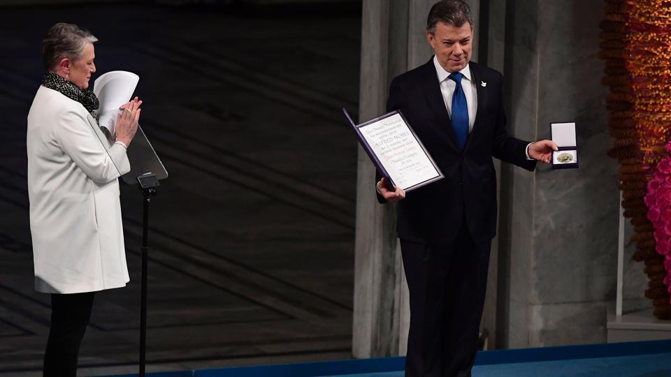 Colombian President,Juan Manuel Santos,Nobel Prize for Peace accord