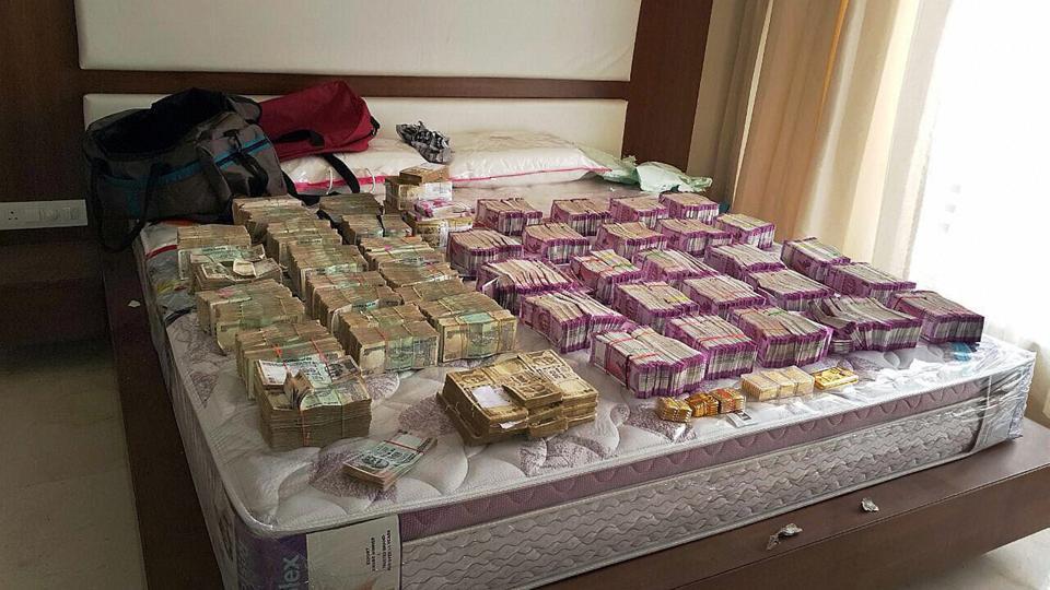 Demonetisation,cash seized