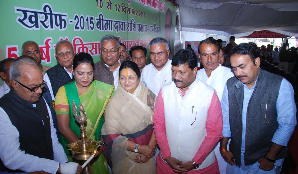 Finance minister Jayant Malaiya inaugurating farmers' convention in Indore on Saturday.