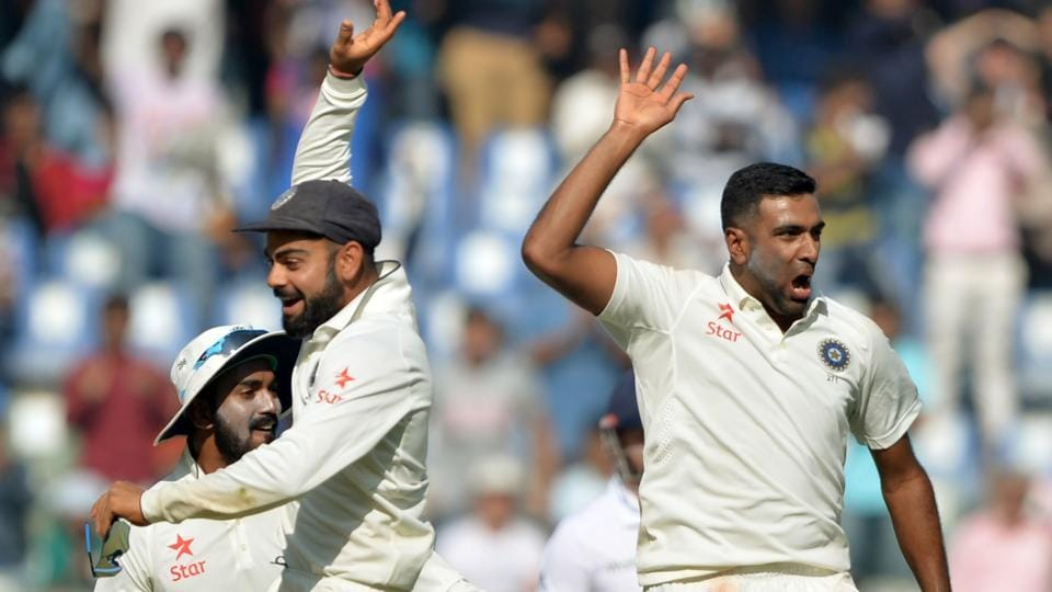 Virat Kohli (left) handling of main spinner Ravichandran Ashwin has been a key feature of his captaincy, and the off-break bowler has responded brilliantly to the faith shown in him. Former Australia skipper Ian Chappell puts Kohli ahead of his Aussie counterpart Steve Smith for his ability to handle spin bowlers.