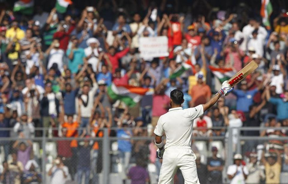 After an attendance of 22,600 on Saturday, almost 23,000 filled the stands at the Wankhede stadium on Sunday, creating a spectacular atmosphere.