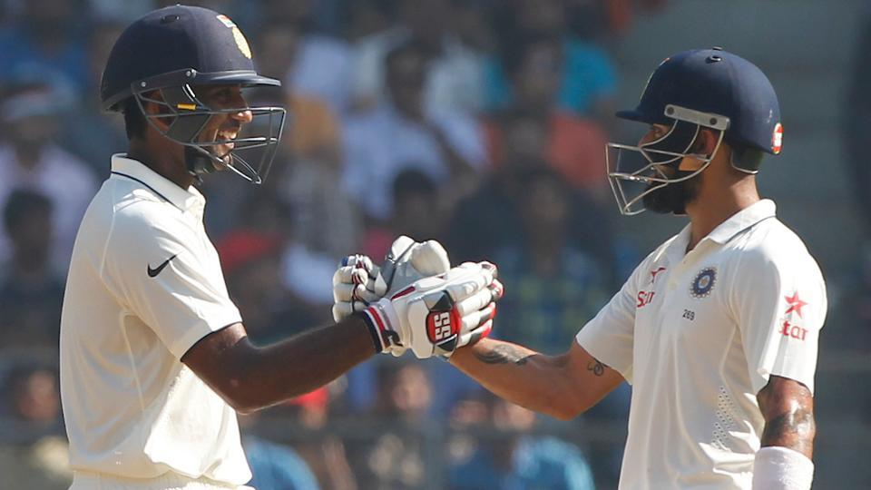 Virat Kohli and Jayant Yadav smashed records as India inched closer to a series win against England during the Mumbai Test.