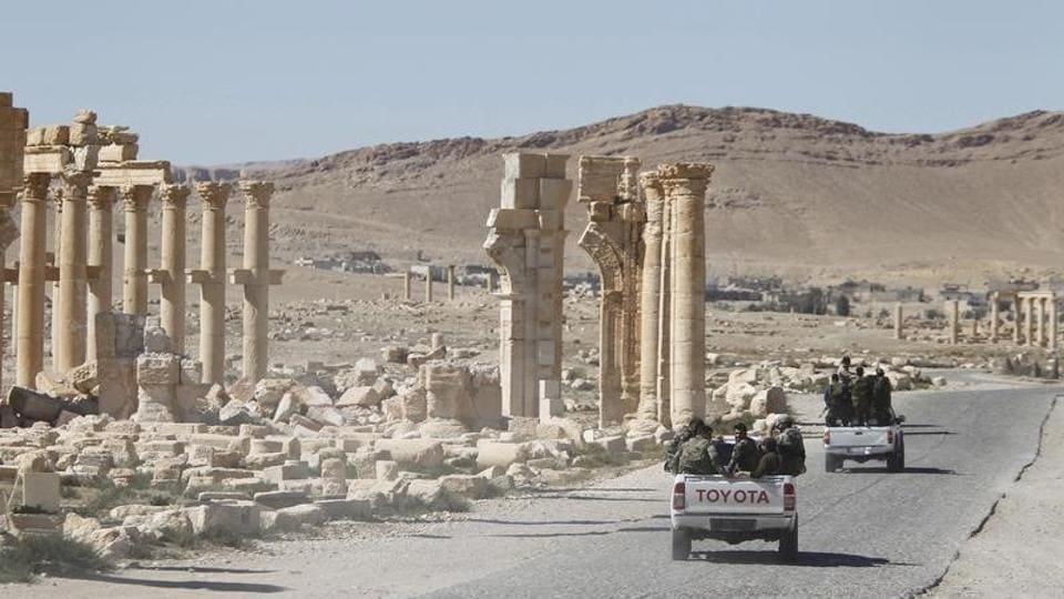 Russian forces,Syria,Palmyra