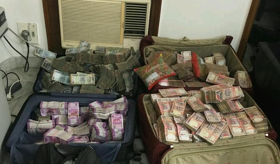 The police then in association with the I-T department  raided Tandon's office on Saturday night and recovered Rs 13.56 crore in cash.