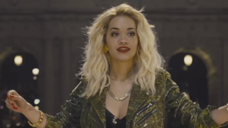Pop star Rita Ora made a cameo in Furious 6 when she flagged off the opening race. (Universal)
