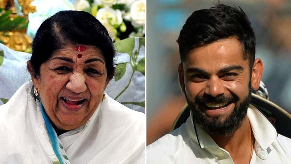 """Lata Mangeshkar gifted Virat Kohli with one of her soulful and evergreen songs — """"Aakash ke us paar bhi""""—for his innings"""" of 235 that set up India's series-sealing victory over England at the Wankhede Stadium in Mumbai."""