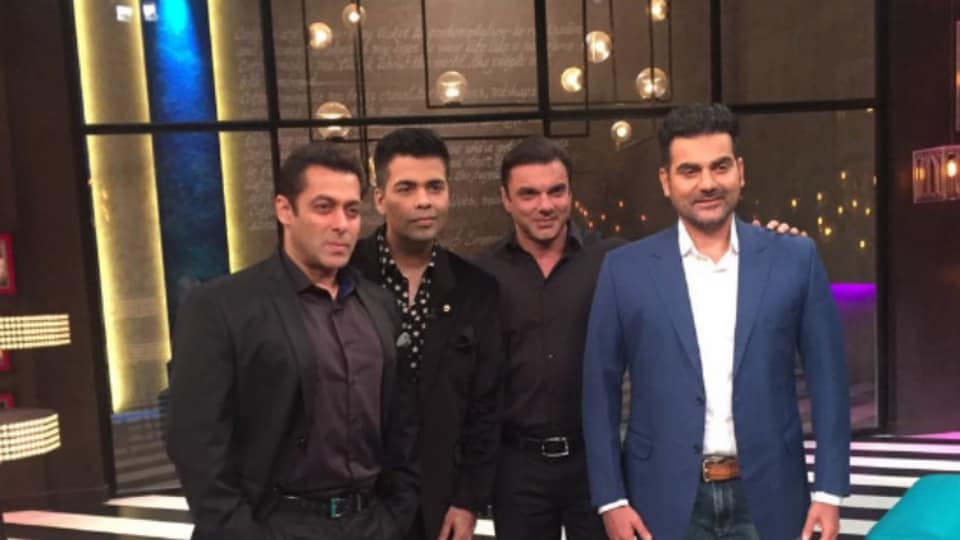 Salman Khan appeared on the 100th episode of Koffee with Karan along with his brothers Arbaaz and Sohail.