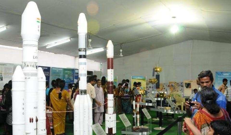 At the exhibition, Indian Space Research Organisation (ISRO) will display small scale models of its rocket launcher.