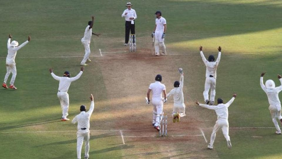 Ravichandran Ashwin in action in the fourth Test between India vs England in Mumbai's Wankhede Stadium. Ravichandran Ashwin took a 10-wicket haul, his seventh such feat for Indian cricket team.