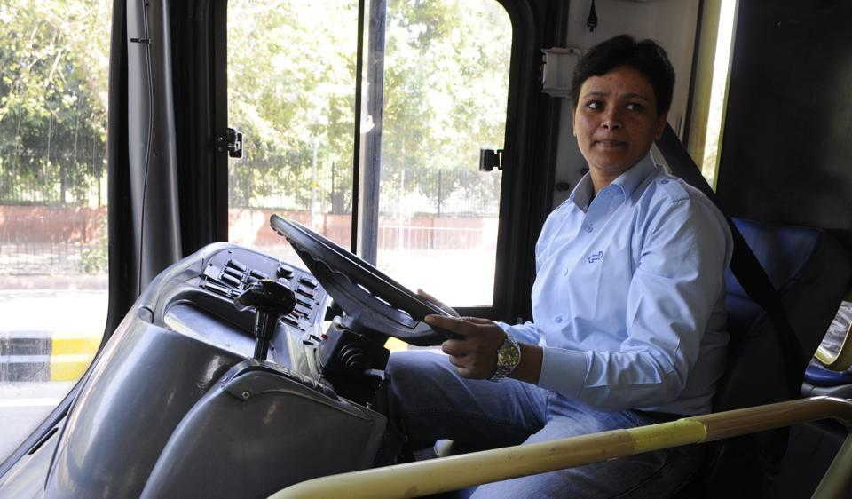 Venkadarath Saritha became the first woman to join the men-only brigade of DTC bus drivers last year