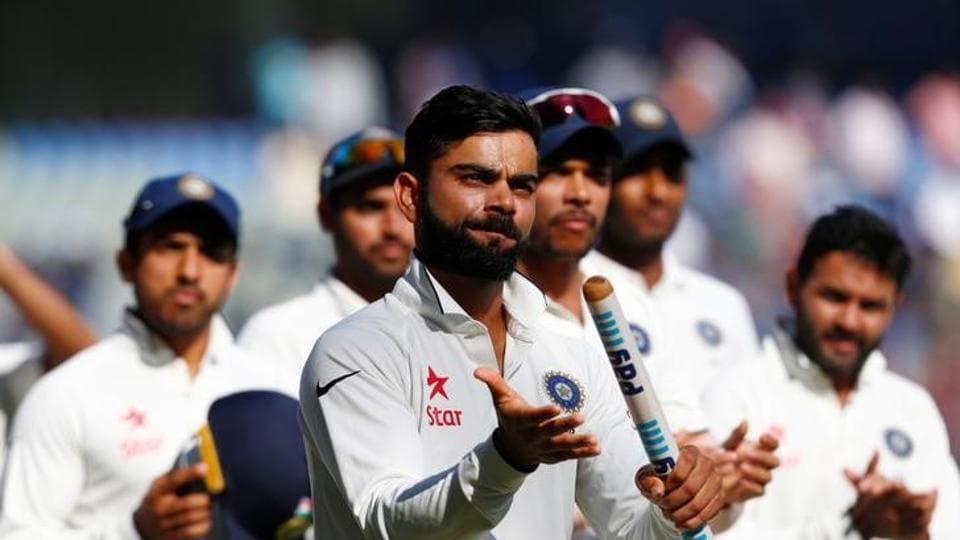 Skipper Virat Kohli  was named the man of the match.