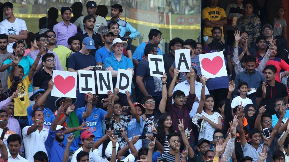 The Wankhede stadium witnessed healthy crowds throughout the Test match and the Mumbai crowd showed their appreciation. (BCCI)