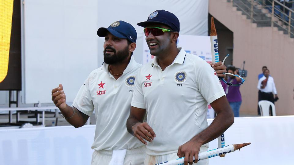 Ravichandran Ashwin and Murali Vijay were the key players in India securing an unbeatable 3-0 lead in the series. (Photo by: BCCI)