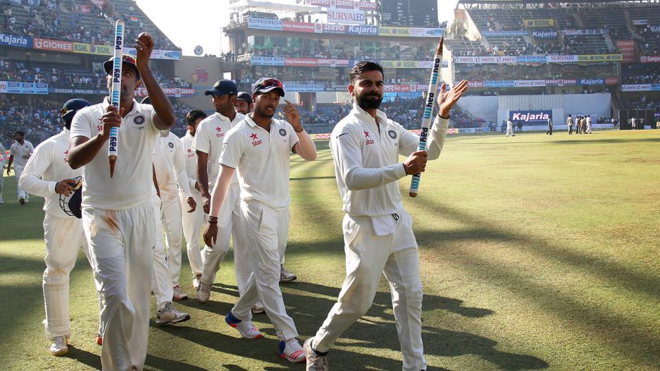 Virat Kohli had a memorable match, scoring his highest individual score of 235. His score was also the highest individual score by an Indian captain in Tests. (Photo by: Deepak Malik/ BCCI/ SPORTZPICS)