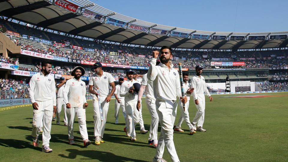 Virat Kohli continued his magnificent captaincy tenure as India secured their fifth consecutive series win after defeating England by an innings and 36 runs in Wankhede. (Photo by: BCCI)