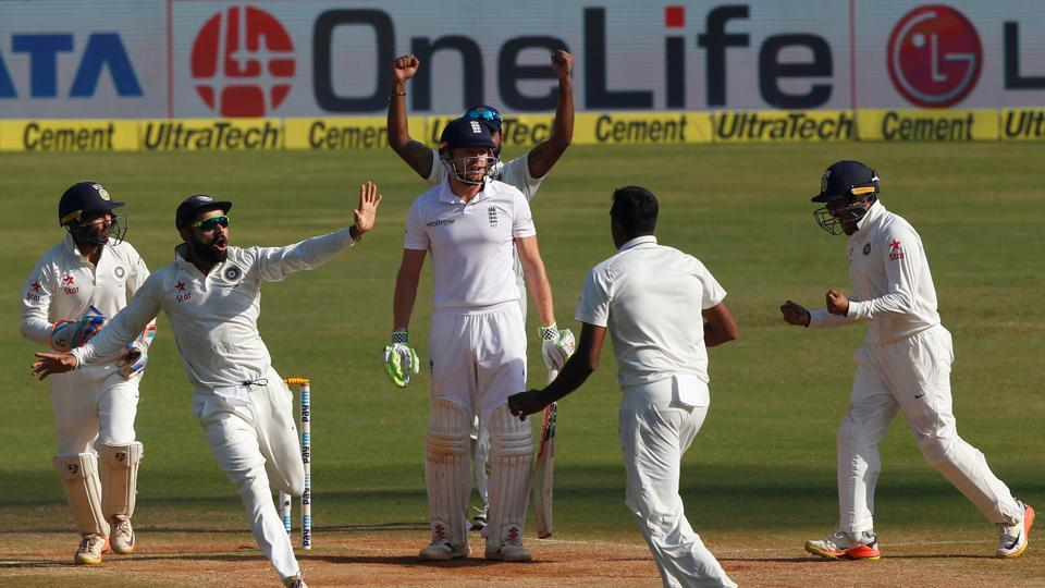 India showed urgency in the final morning and Ravichandran Ashwin picked up the wicket of Jonny Bairstow for 51. (Photo by:BCCI)