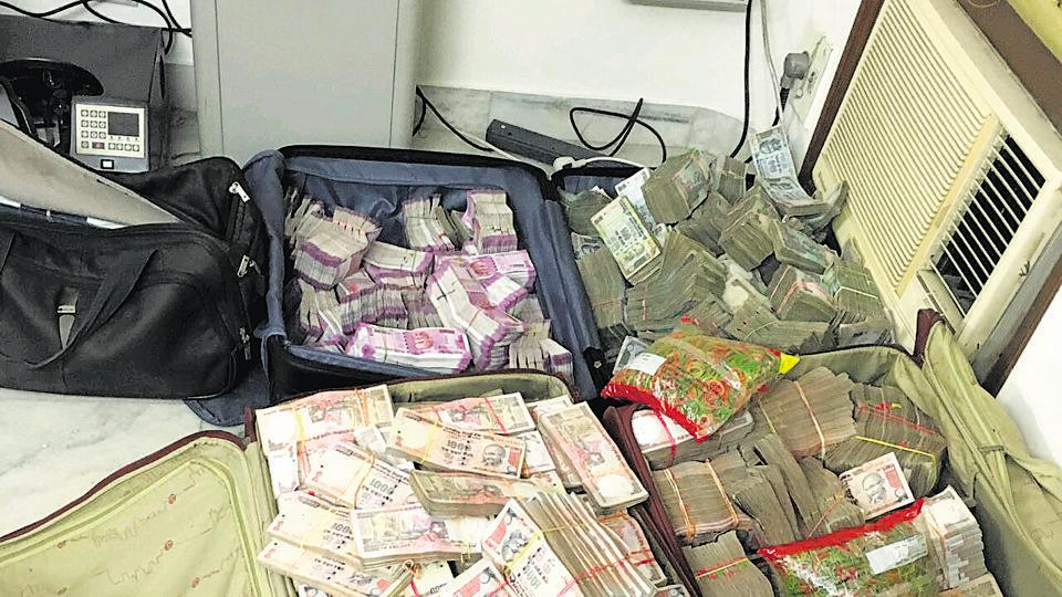 Income Tax officials and Delhi Police raided the office of a law firm in south Delhi's Greater Kailash-I and found over Rs 13 crore in cash, of which Rs 2.5 crore was in new currency notes.