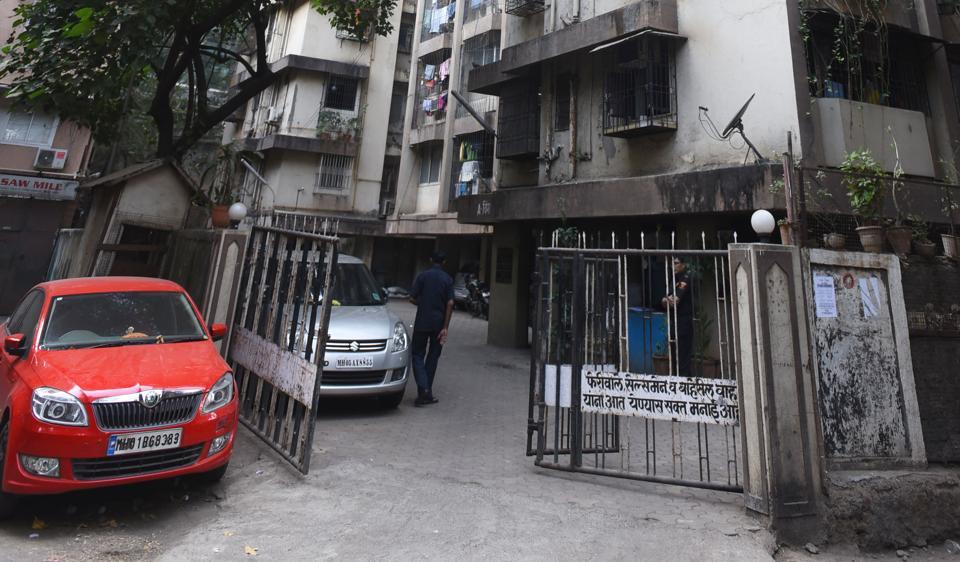 The building in Dadar where the incident took place.