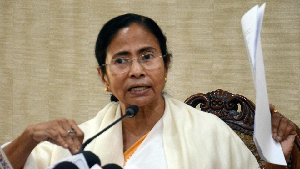 West Bengal chief minister Mamata Banerjee addressing the media on