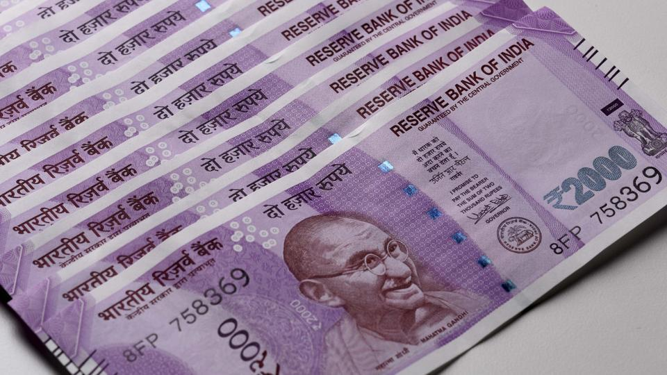 New Delhi, India - Dec. 1, 2016: New 2000 rupee currency note. (Photo by Sonu Mehta/ Hindustan Times)