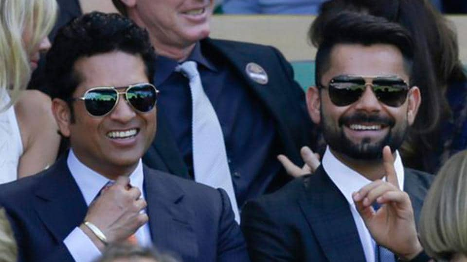 Sachin Tendulkar and Virat Kohli at Wimbledon. Kohli's fantastic form in 2016 has triggered fresh comparisons with Tendulkar.