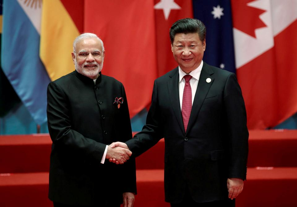 Prime Minister Narendra Modi and Chinese President Xi Jinping during the G20 Summit in Hangzhou, Zhejiang province, on September 4, 2016.