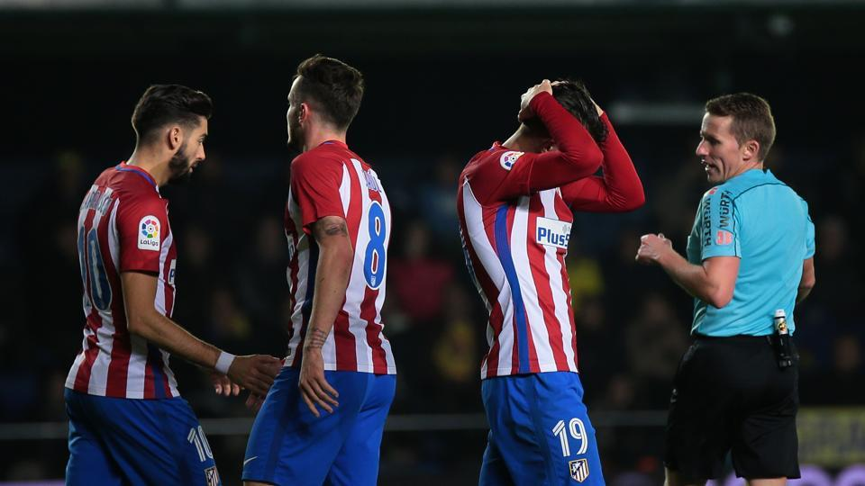 Diego Simeone's  Atletico Madrid side has dropped to sixth with 25 points and may now have to target a top-four finish rather than a title push.