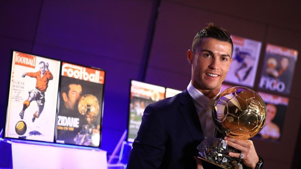 Cristiano Ronaldo was named winner of the Ballon d'Or the fourth time, capping a terrific year for the Real Madrid star.
