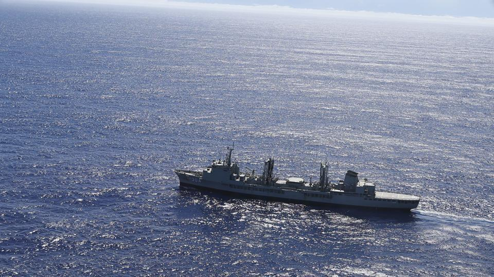 HMAS Success scans the southern Indian Ocean, near the coast of Western Australia, searching for the missing Malaysia Airlines Flight MH370 in 2014.