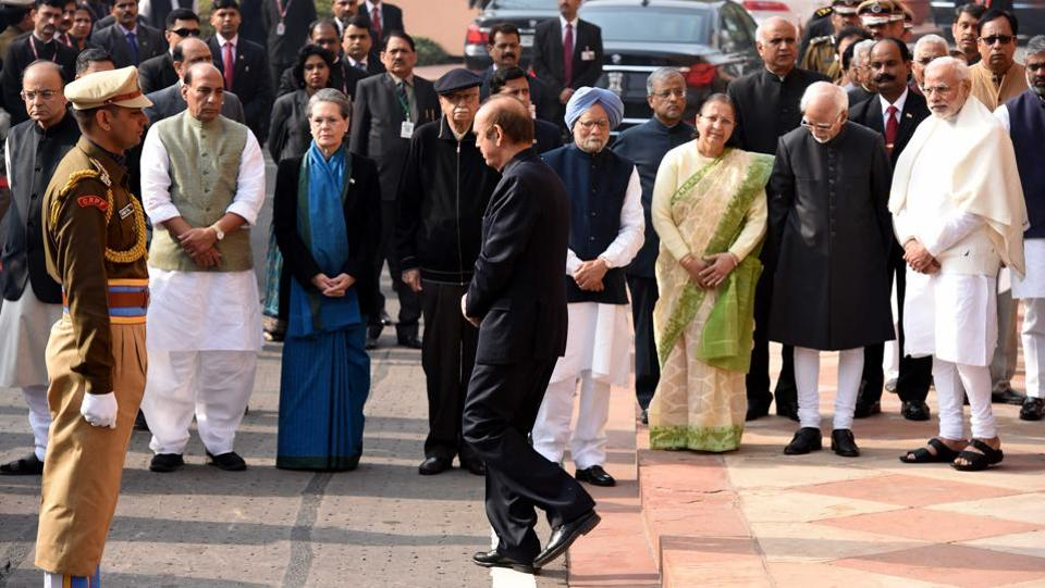Prime Minister Narendra Modi remembered the martyrs on the 15th anniversary of the deadly terror attack on Parliament. (Arun Sharma/HT )